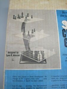 Vintage 1967 3-D Chess Game by Dimensional Games Inc. Brand New, Made in USA