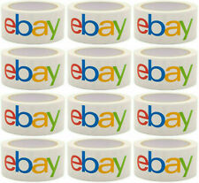 """12 Rolls 2""""x75 yards Official eBay Branded Packaging Tape! Packing FREE SHIPPING"""