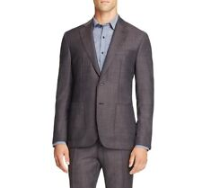 $1295 HARDY AMIES Mens Slim Fit Wool Sport Coat Gray SUIT JACKET BLAZER 42R