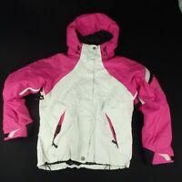 Columbia Womens M Ski Snowboard Jacket Winter Snow Pink Cream Titanium Coat