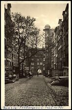 DANZIG Gdansk FRAUENGASSE Frauentor FELDPOST Steuermannschule apt. Stempel 1942