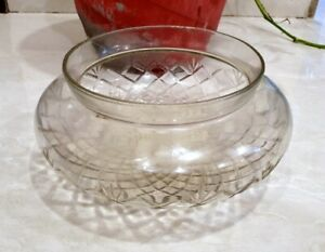 Rare Antique Old Cut Glass Beautiful Collectible Bowl