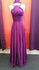 Purple Elegant Evening Dress/Gown with accented stones around the neckline!