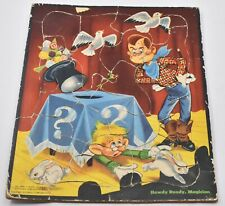 """Howdy Doody Magician Vintage Puzzle 11.5"""" x 9.5"""" Complete Whitman"""