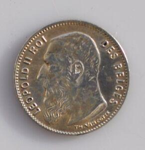 Belgium  50 cent. silver 1909 UNC