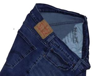 Levis Strauss 511 Indigo Stretch Slim Fit Jeans 34W 32L