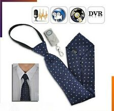 Mini Fashional Spy 8GB DVR Hidden Neck Tie Covert Camera Wireless Remote Control