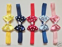 Polka Dot Satin Bow Headband Baby Girl Headbands Newborn Toddler Girls + Lot
