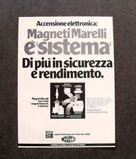 I958- Advertising Pubblicità -1982- MAGNETI MARELLI ACCENSIONE ELETTRONICA
