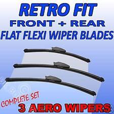 Front & Rear aero flat Wipers TOYOTA Hi-Ace Van 95+