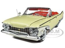 1960 PLYMOUTH FURY OPEN CONVERTIBLE BUTTERCUP YELLOW 1/18 BY SUNSTAR 5401