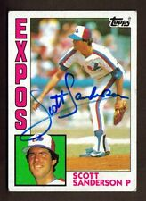 1984 TOPPS #164 SCOTT SANDERSON EXPOS AUTO SIGNED CARD JSA STAMP B