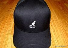 24ef495397d Kangol Mens Wool Flexfit Baseball Hat Black Small medium