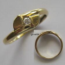 87 - Eleganter Ring - Gold 750 - Brillant 0,05 Carat ---  -237/51-