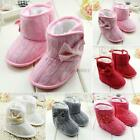 Baby Boys Girls Soft Sole Boots Toddler Infant Cotton Crib Shoes 0-18 Months New