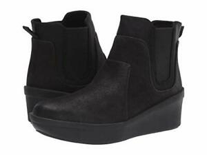 Clarks Step Rose Sun Boots (Black Textile) ** FREE SHIPPING **