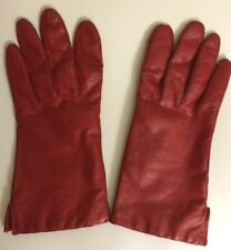 Red leather gloves Womens Medium