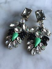 J.Crew Fashion Gold, Crystal, And Resin Flower Drop Earrings