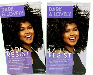 New Dark & Lovely Fade Resist Hair Color 401 Hazelnut Brown w/ Conditioner2 PACK