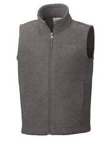 NWT Columbia Sportswear Boys 8-20 Steens Mountain Vest Charcoal Gray size XL $30