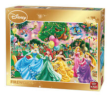 1500 Piece Jigsaw Puzzle Disney Princess Fireworks Gold Box Limited Edition 8552