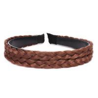 BT_ FP- Hotsale Women Braided Headband Hair Twisted Wig Head Hoop Headband Hair