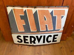 FIAT SERVICE großes Emailleschild