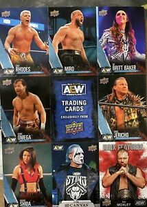 First Ever AEW Upper Deck Promo Trading Card Sheet | NYCC Exclusive!