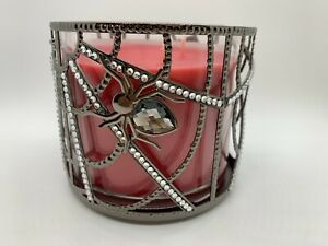 Bath And Body Works 2021 Halloween Black Diamond Spider Web 3 Wick Candle Holder