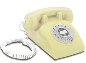 Opis 1960's Cable with Classic United States Retro Rotary Dial Phone