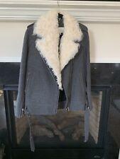 IRO $1900 Biker Jacket Coat With Lamb fur Collar Size 40
