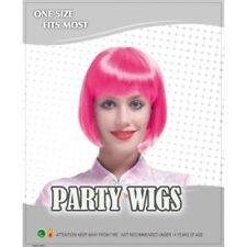 Perruques, extensions et matériel roses courts sans marque pour femme
