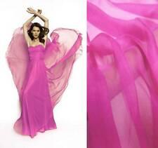 4 Yards silk chiffon Fabric Cloth 140cm wide Sheer AZALEA PINK Online Sale #8