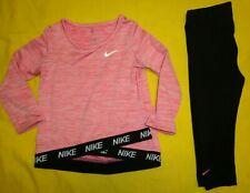 Nike Baby Girl Set 18 Months Black/Pink Color