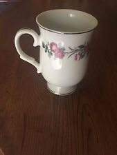 Sheffield Fine China Platinum Jubilee Footed Coffee Tea Cup Mug Floral 12oz