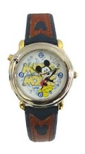 Lorus' Disney Mickey Mouse Melody Watch in Silver Tone Case/2-Tone leather Band