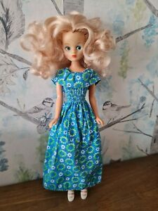 Vintage Mary Quant Daisy Doll in Garden Party Dress and White Sandals