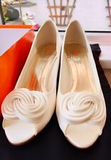 BNIB Else Bridal Shoes Twist Knot Satin UK 7 EU 40 Peep Toe Low Heel Comforta