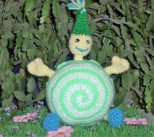 Lutin boule vert réalisé au crochet