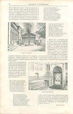 Salle de l'Ayuntamien'o Chêne de Guernica Gernika-Lumo GRAVURE OLD PRINT 1895