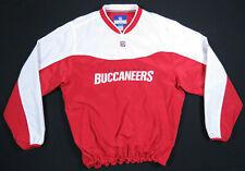 Tampa Bay Buccaneers Reebok NFL On Field Windbreaker Jacket Pullover Pockets L