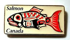 BEAUTIFUL VINTAGE RARE SALMON CANADA FIRST NATION MOTIF PIN BADGE^^^^
