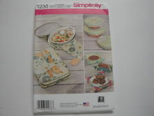 Simplicity Pattern #1236-Casserole Carriers, Fabric Gift Baskets & Bowl Covers