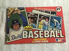 1982 FLEER BASEBALL LOGO STICKER AND STAMP ALBUM BOOK - EMPTY - NOT USED