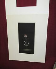 Modern Japanese Mezzotint Print of Wine Glass by T. Yoki