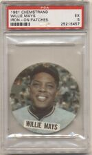 1961 Chemstrand Iron On Patches # 8 Willie Mays PSA EX 5