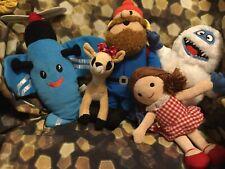 Yukon Cornelius, Abominable Snowman, Airplane, Clarice, Dolly Reindeer Plush Lot