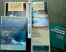 6 Books LEFTY KREH Fly Fishing Casting Salt Water Flats Fish Bonefish Trout Carp