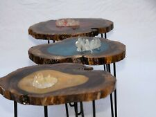 High Quality Handmade Epoxy Coffee Table With Crystals