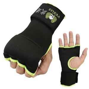 Verus Inner Gel Boxing Glove Hand Wraps Pair Green/Black size Medium